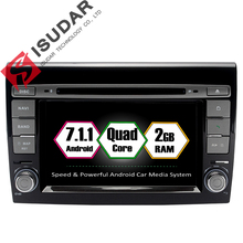 Android 7.1.1 2 Din 7 Inch Car DVD Player For Fiat/Bravo 2007 2008 2009 2010 2011 2012 CANBUS 2 GB RAM Wifi GPS Navigation Radio