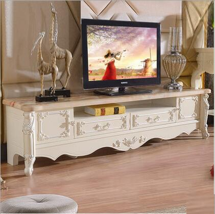 Modern High Living Room Wooden furniture lcd marble  TV Stand o1164