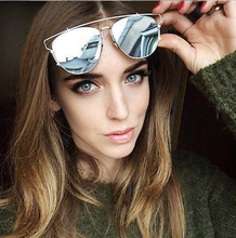 2016 new summer style sun glasses reflective metal frame brand designer sunglasses women Retro vintage sunglass oculos de sol