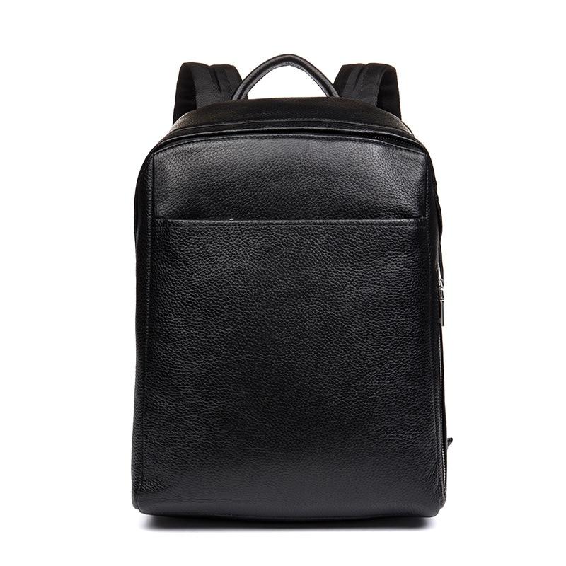 DANJUE hommes sac à dos en cuir véritable noir couleur sacoche pour ordinateur portable professionnel sac d'école étudiant de haute qualité en cuir véritable sac à dos de voyage - 6