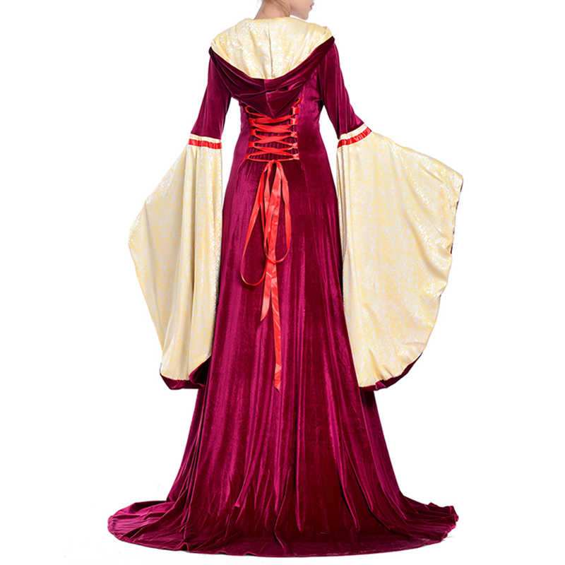 Nova cosply traje Medieval retro tribunal princesa vestido Longo Partido Do Traje do Dia Das Bruxas para o Jogo rainha traje Roupas femininas