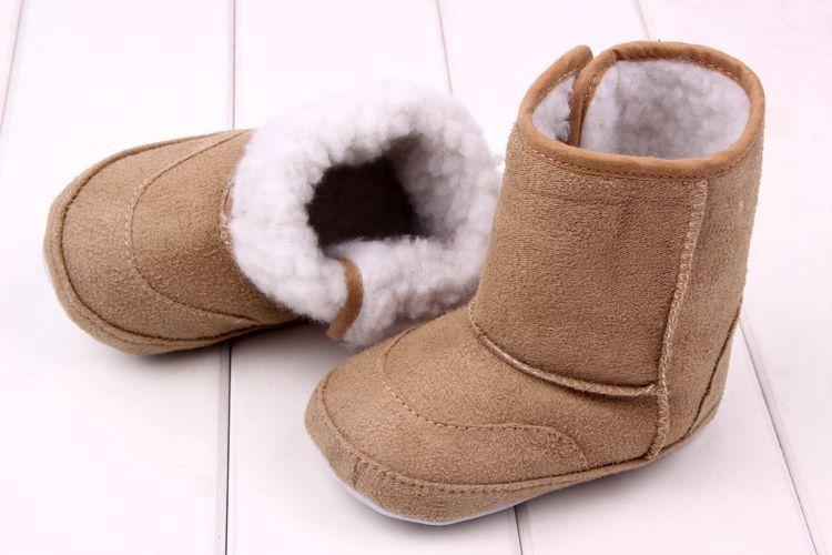 2015 New Fashion Super Warm inverno bambino stivali da neve caviglia Scarpe da neonato rosa kaki antiskid tenere in caldo scarpe da bambino primi camminatori