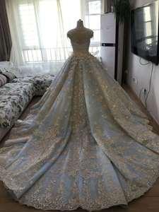 Image 5 - Vestido De Noiva De lujo De alta calidad con cuentas Vintage Vestido De fiesta vestidos De novia 2018 vestidos De novia Brautkleid azul menta
