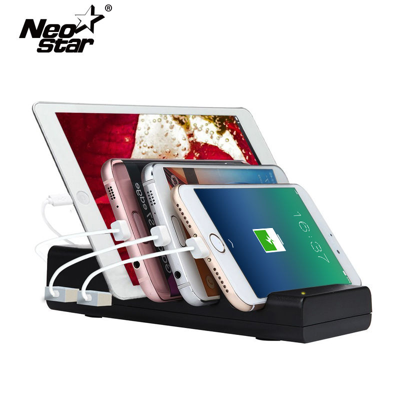 Tablet Fast Charge 4 Ports Usb Charging Station Dock Usb Cable  Stand Holder for iPad 2 3 4 Air 2 for iPhone X 6 7 8 Tablet Chargers    - title=