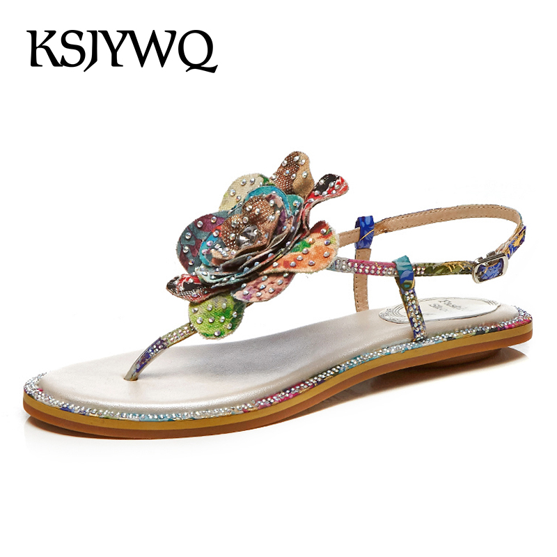KSJYWQ Sexy Open-toe Women Sandals Summer Style Casual Flats Fashion Young Girls Party Clip toe Shoes for Woman Box Packing A05 ksjywq genuine leather flowers women sandals sexy exposed toe white shoes summer style clip toe shoes woman box packing a2571