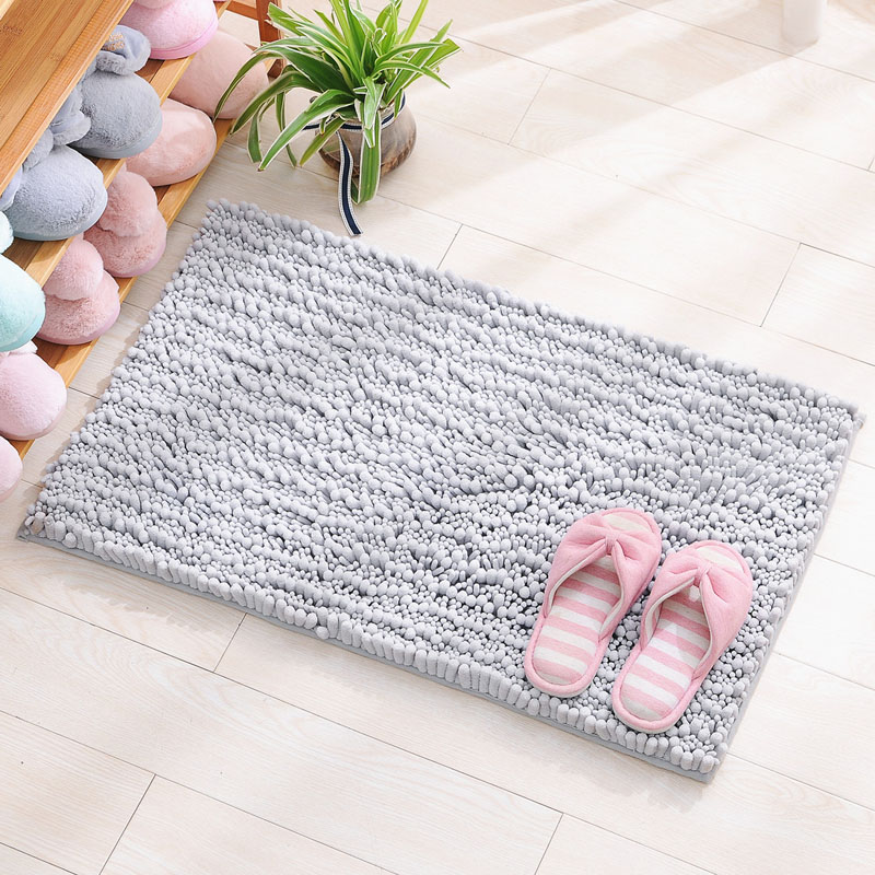 New Chenille Thicken Long Hair Rug Bathroom Absorbent Fluffy Mats Kitchen Rugs Living Room Bedroom Study Plain Nordic Wind Mat