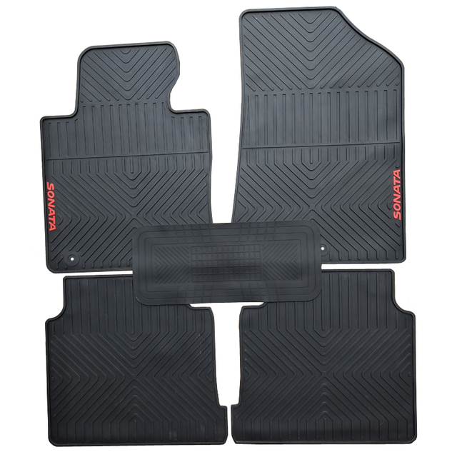 Special rubber car floor mats for Hyundai Sonata 89 durable