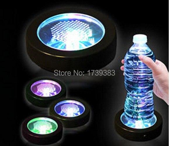 50PCS Lot Color Changeable LED Light Coaster Drink Bottle Cup colorful flash LED Coaster Light up BAR COASTER BLINK Xmas Gift in Novelty Lighting from Lights Lighting