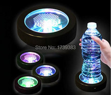 50PCS/Lot Color Changeable LED Light Coaster,Drink Bottle Cup colorful flash LED Coaster,Light up BAR COASTER BLINK Xmas Gift newspaper burlap coaster