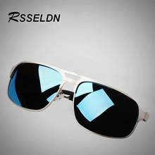 Fashionable Branded Polarized Men's Sunglasses RSSELDN Mirror Lens Color Spectacles Sunglasses Accessories For Men UV400 RS1132