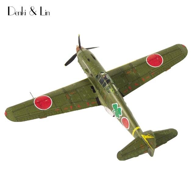 1:50 3D Japanese Kawasaki Ki-61 Fighter Plane Aircraft Paper Model Assemble  Hand Work Puzzle Game DIY Kids Toy Denki & Lin