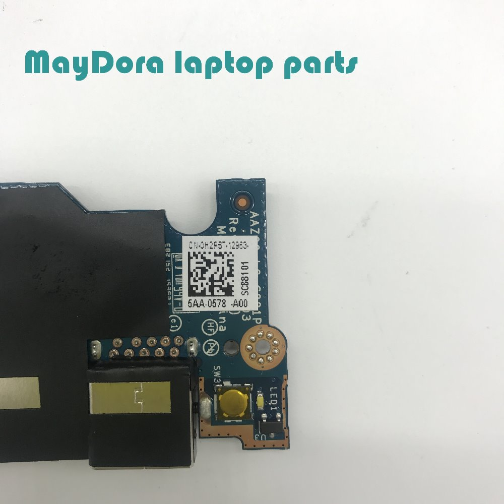 Brand new original laptop parts For DELL XPS13 9343 9350 9360 USB SD card reader and power switch board 0H2P6T H2P6T