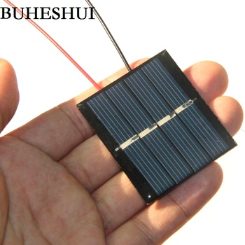 BUHESHUI 0.36W 2V Solar Cell Polycrystalline Solar Panel Module+Cable DIY Solar Charger For 1.2V Battery Study Epoxy 10pcs/lot image