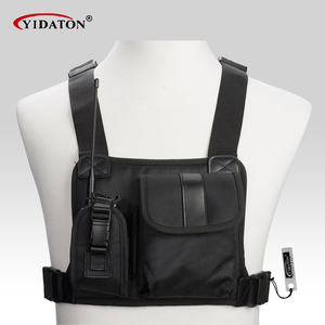 Image 1 - New walkie talkie chest pocket pack backpack handset radio Holder Bag for GP340 CP040 BF UV 5R 888S two way radios carry case