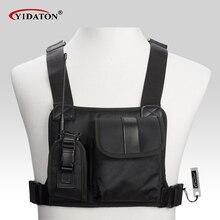 Nuevo paquete de mochila de bolsillo para el pecho walkie talkie, bolsa de soporte para radio para GP340 CP040 BF UV 5R 888S radios de dos vías, funda de transporte