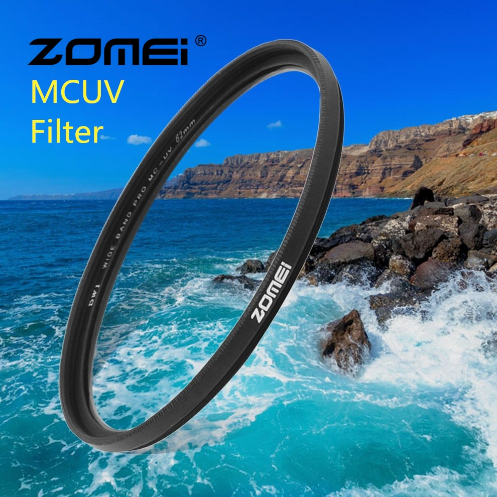 Zomei MCUV Camera Filter Protecting Lens Filter For Canon Nikon SLR DSLR Camera 49mm 52mm 55mm 58mm 62mm 67mm 72mm 77mm 82mm 52mm 67mm 72mm 77mm macro close up filter set 1 2 4 10 with pouch macro lens filter kit for canon dslr camera