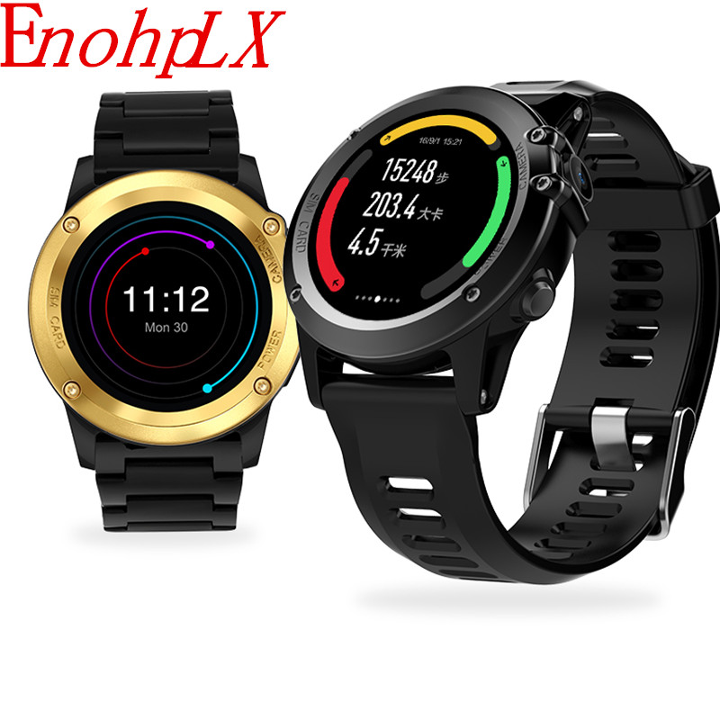 EnohpLX H1 Smart Watch MTK6572 IP68 Waterproof GPS Wifi 3G Camera 400*400 Heart Rate Monitor 4GB 512MB For Android IOS PK KW88 h1 smart watch android 4 4 os smartwatch mtk6572 512mb 4gb rom gps sim 3g heart rate monitor camera waterproof sports wristwatch