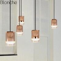 Постсовременные алюминиевые висячие лампы для гостиной, спальни, скандинавские светодиодные точечные подвесные светильники, Кухонные све