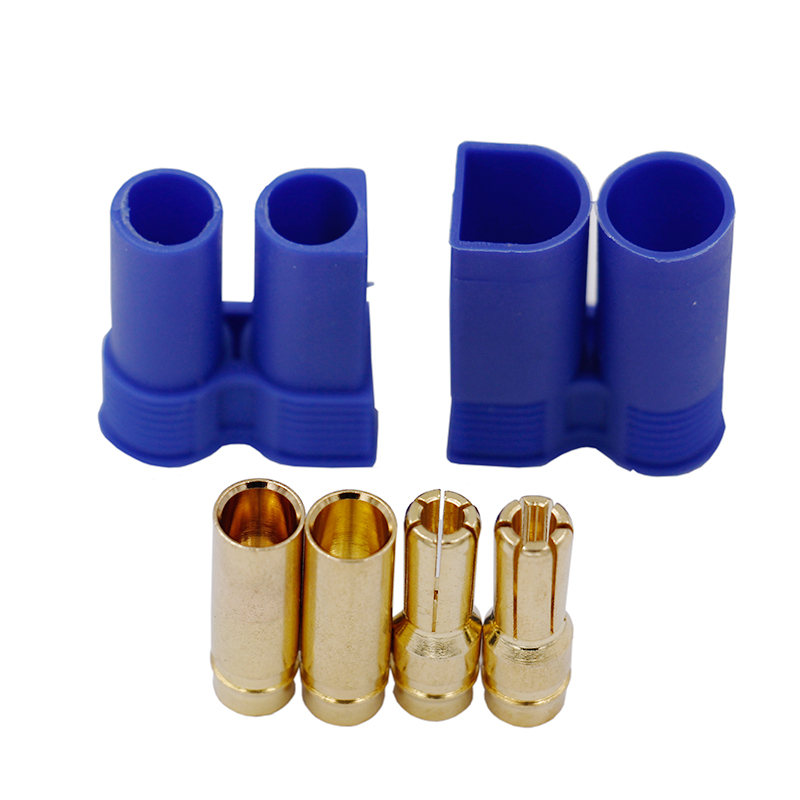 1 pair EC5 RC Connector Female Male Bullet Gold Connector plug For RC Lipo Battery 25%off(China)