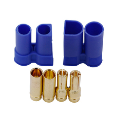 1 pair EC5 RC Connector Female Male Bullet Gold Connector plug For RC Lipo Battery 25%off