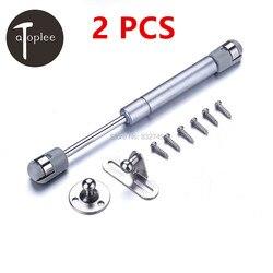 2 шт. CRS & нейлоновая дверца шкафа, мягкая Закрытая петля, гидравлическая газовая стойка, подъемная опорная штанга, давление 80N, мебельная фурн...