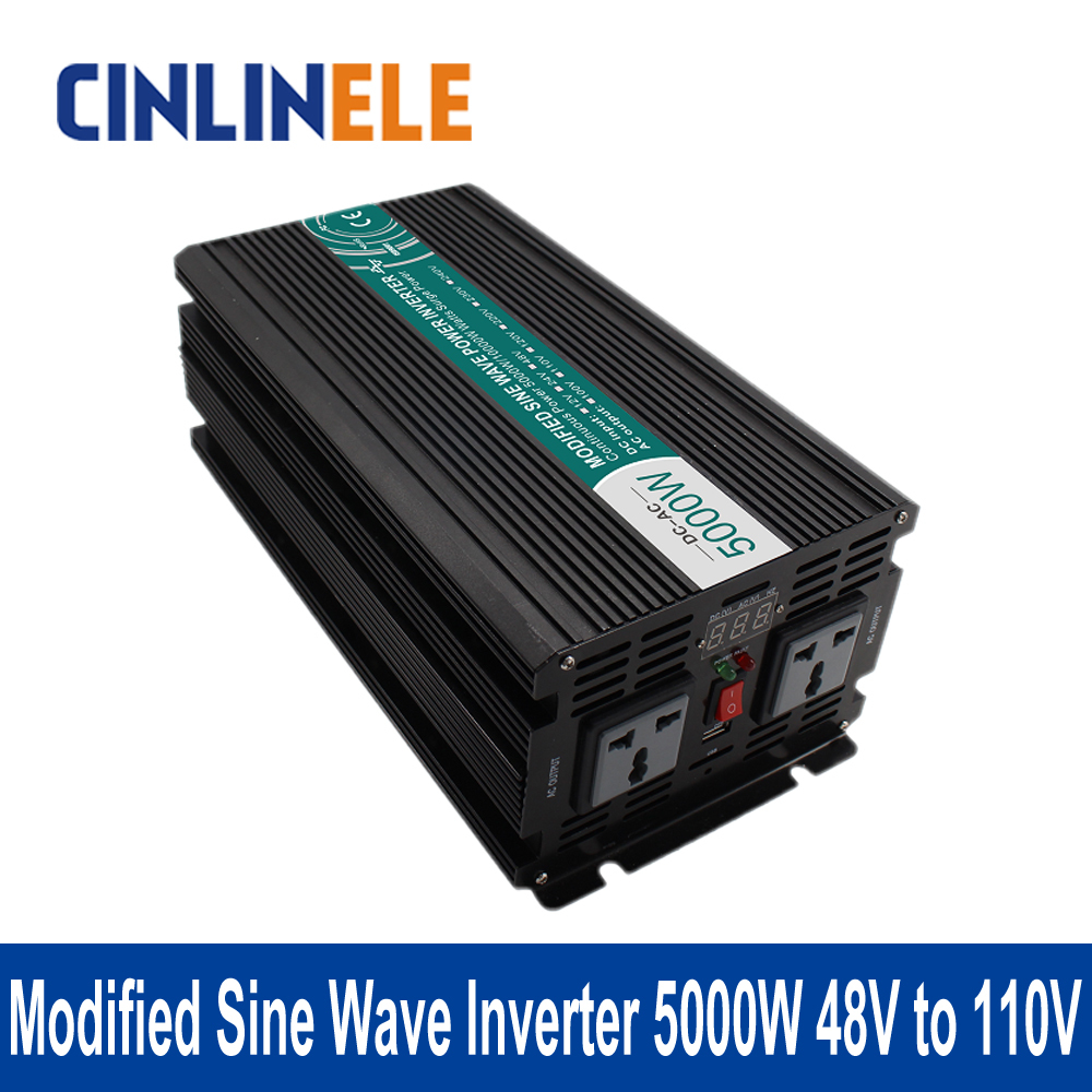 Modified Sine Wave Inverter 5000W CLM5000A-481 DC 48V to AC 110V 5000W Surge Power 10000W Power Inverter  48V 110V 5000w dc 48v to ac 110v charger modified sine wave iverter ied digitai dispiay ce rohs china 5000 481g c ups