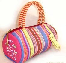 Mini Striped Handbag Portable material bag small bundle Chinese ethnic fashion pack