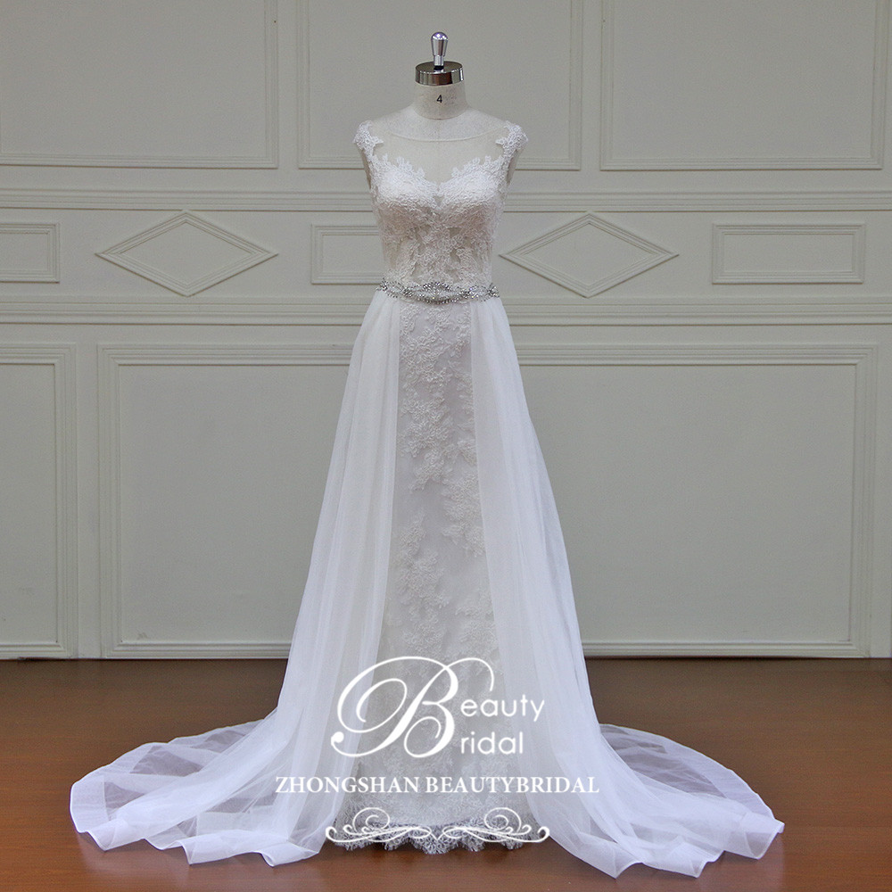 Beautybridal Elegant Customed Made Vestidos De Novia Bridal Dresses Real Photo Wedding Dresses Lace Simple Wedding Gowns  YE001