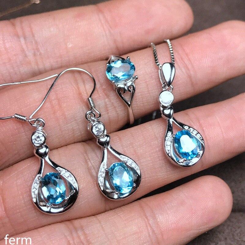 KJJEAXCMY boutique bijoux en argent sterling 925 sertie d'un collier pendentif en topaze naturelle sertie d'un nouvel ensemble de chrysanthème