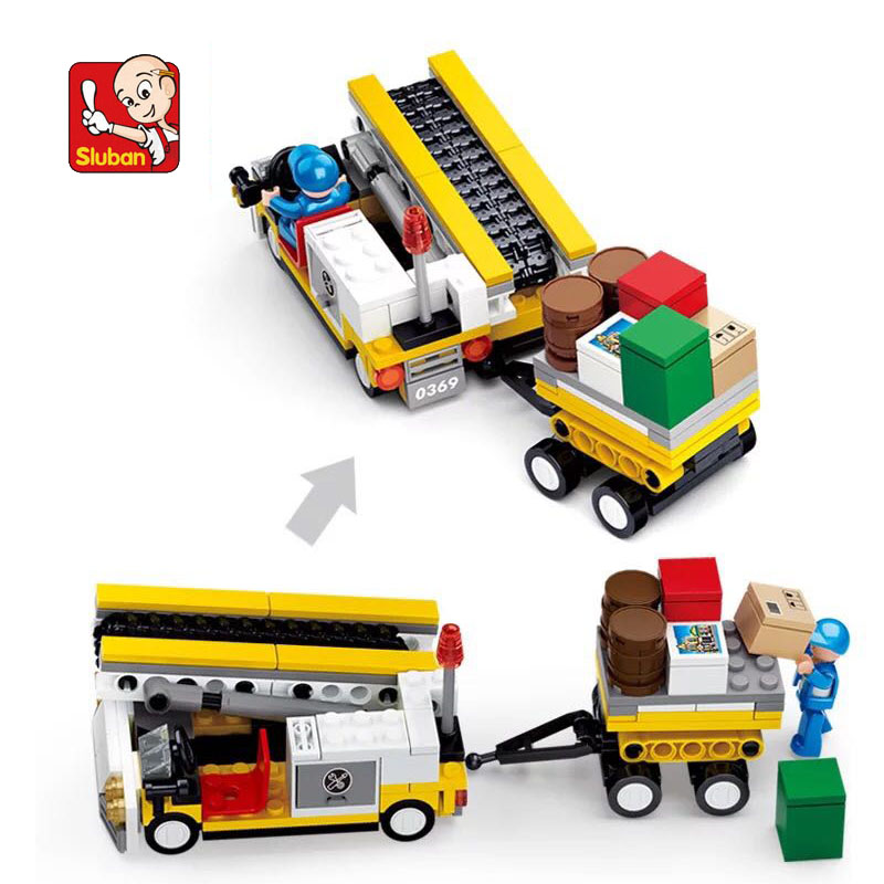 Sluban Sluban Cargo Airplane Building Blocks
