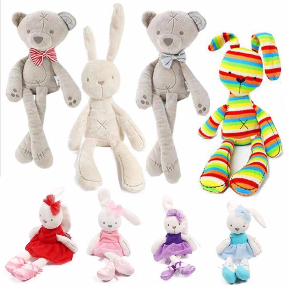 Baby Soft Brinquedos Plush Rabbit Bunny & Bear Sleeping Mate Stuffed & Plush Animals Toys