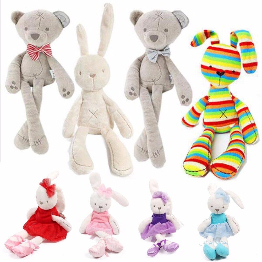 Baby Soft Brinquedos Plush Rabbit Bunny & Bear Sleeping Mate Stuffed & Plush Animals Toys(China)
