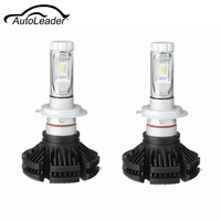 AutoLeader 2Pcs H7 100W 12000LM 6500K Driving Car LED Headlight Bulb Fog Light Beam Lamp Waterproof