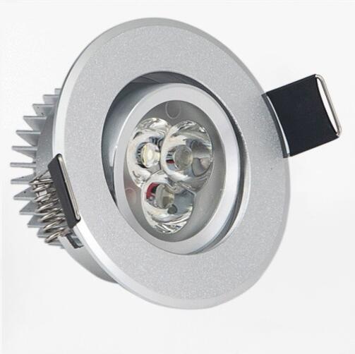 Светодиодные светильники точечные супер яркий светодиодный утопленное затемнения downlight 3 Вт Светодиодный прожектор потолочный светильник ...