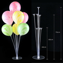Лимит 100 1-Set колонки вертикальные воздушные шары Дисплей Стенд Свадебная вечеринка Декор прозрачный шар