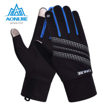 AONIJIE Outdoor Sports Cycling Gloves Bicycle Windproof Thermal Winter Hot Touch Screen