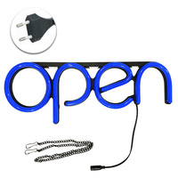 Restaurant Door Visual Neon Light Led Wall Sign Lamp Store Decorative Hanging Chain Open Ultra Bright Window Displaying Artwork