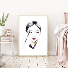 NOOG Fashion Makeup Wall art Poster Nordic Canvas Painting Posters and Prints Pictures For Girl Women Living Room Decor