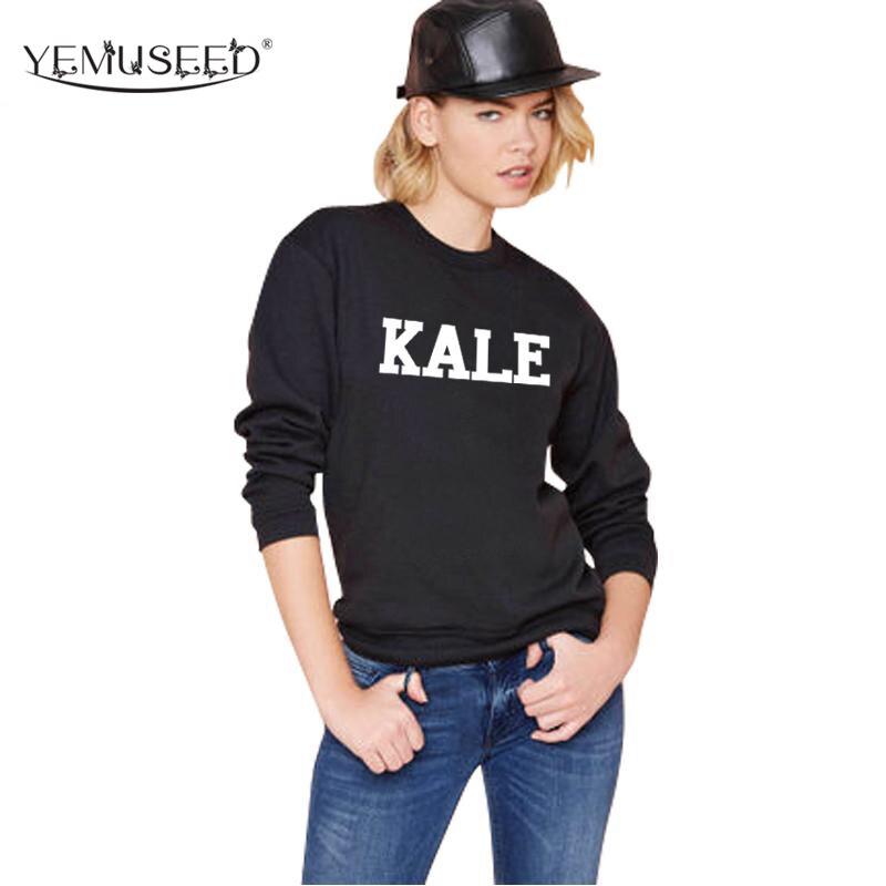 a9bcfb382b6af H924 nuevo Otoño 2016 mujeres negro sudaderas moda tracksuit Kale impreso  Harajuku Sudaderas Jerséis sudadera