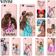 Summer Princess Mom Baby Girl Phone Case For Xiaomi Redmi Note 5A mi 8 Coque 4X 6 4 4A Mi6 A1 5X Fundas Etui Carcasas Coque flower luxury for xiaomi redmi mi 8 6 cc9 a2 lite 5x 6x a1 6a 4x 4a 5 9 plus note 4 5a prime pro cover case coque etui funda