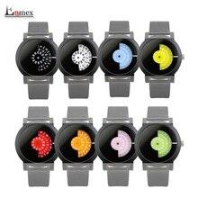 Enmex reloj cámara de concepto de diseño creativo breve simple colorida serie de discos digitales manos moda relojes de cuarzo