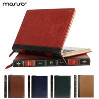 Mosiso Retina 13 3 Inch PU Leather Case Luxury Vintage Laptop Sleeve Protective Cover For Apple