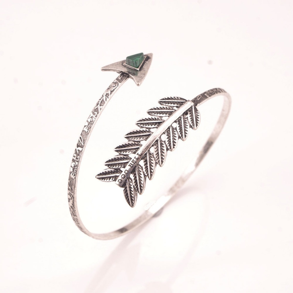 Bohemian Vintage Ethnic Upper Arm Bracelet Vintage Arrow Open Bangle Armlet Arm Cuff Bracelets Pulseras Pulseira Feminina