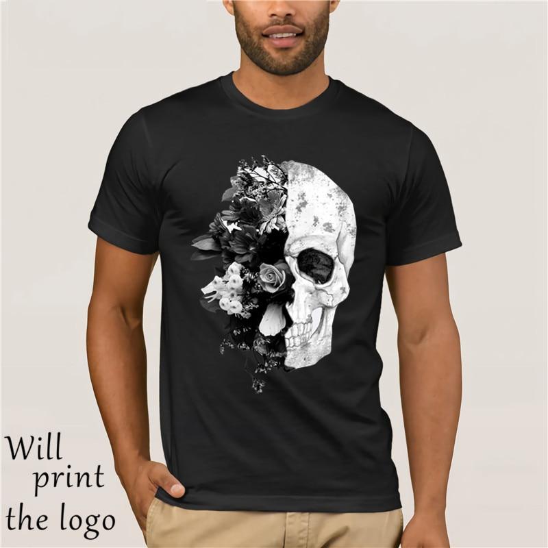 Skull Flower Retro Floral Cool Men Women Long Short Sleeve Baseball T Shirt 315