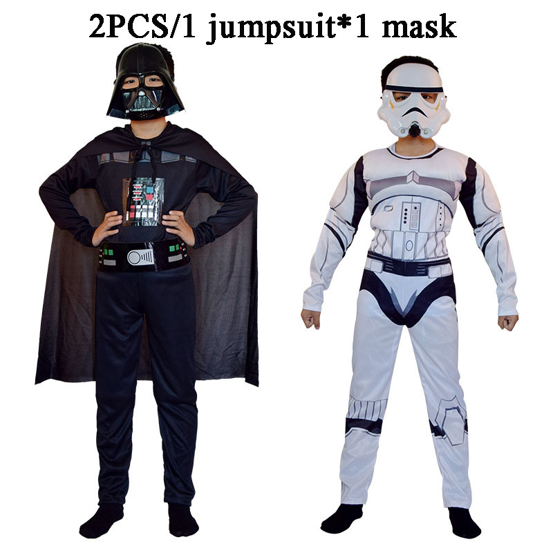 Star wars cosplay kids luxury Star Wars Force Awakening Kylo Ren Classic Cosplay Costume Children Kids Halloween Movie Costume