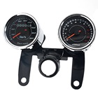 Speedometer Combination 12V 0-180 Km/h LED Universal Motorcycle Tours Tachometer Gauge With Stand
