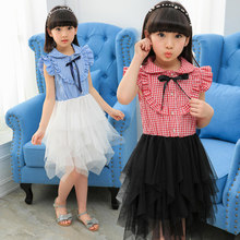 Get more info on the Wedding Girls Dress 5 6 8 10 12 Age French Cuff Blouse Dresses Slim Fit Princess Turn Down Collar Tunic Red Plaid Shirt Dress
