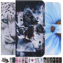 Cute Flip Leather Case For Funda Samsung Galaxy S8 S9 Plus S7 S6 Edge Cat Tree Eye Case Wallet Stand Card Slot Holder Cover P06F mooncase suede leather side flip wallet card holder stand pouch чехолдля samsung galaxy s6 brown