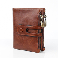 Genuine Leather Real Cowhide Leather Bifold Clutch Dropshipping 2019 Men's Short Wallets Coin Purses Male ID Credit Cards Holder