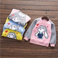 2017 New Design Baby Girl Sweater Autumn And Winter Kids Cute With Velvet Dyes Cartoon Print Rabbit Pullovers Keep Warm Sweater